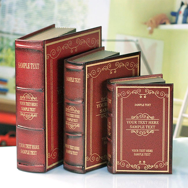 3PC book of multifunctional decorative ornaments jewelry Home Furnishing box set 01035-4H bookcase simulation(China (Mainland))