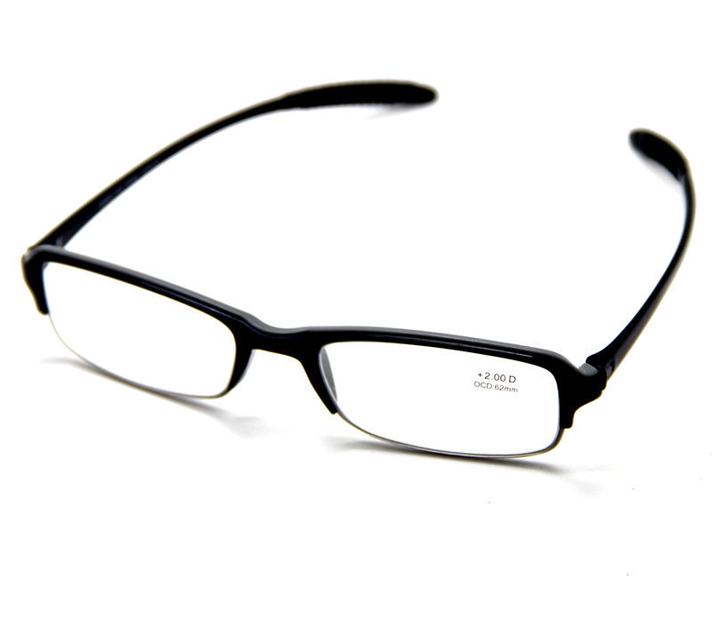 Black Gray Square Frame TR90 Memory Material Flexible ...
