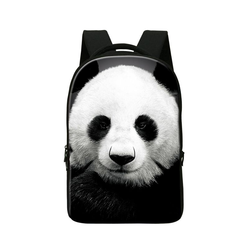 Animal panda 3D printing laptop backpacks for college students custom laptop bag for 14 inch large capacity computer back pack(China (Mainland))