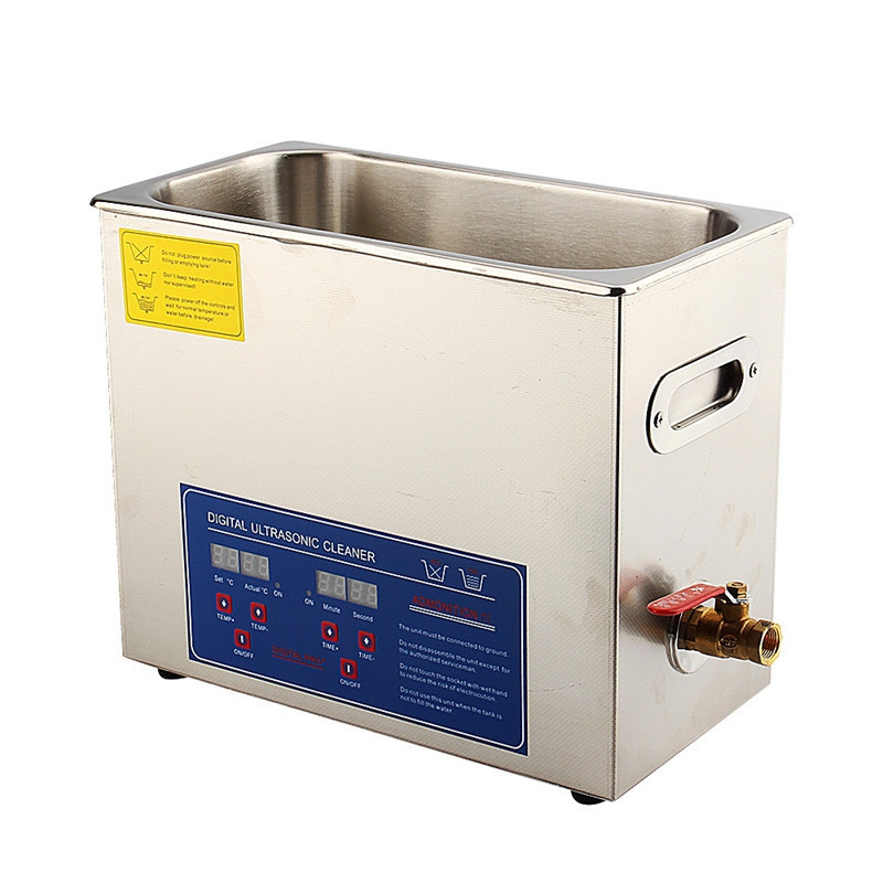 Stainless Steel 6 L Liter Industry Heated Ultrasonic Cleaner Heater with Timer(China (Mainland))