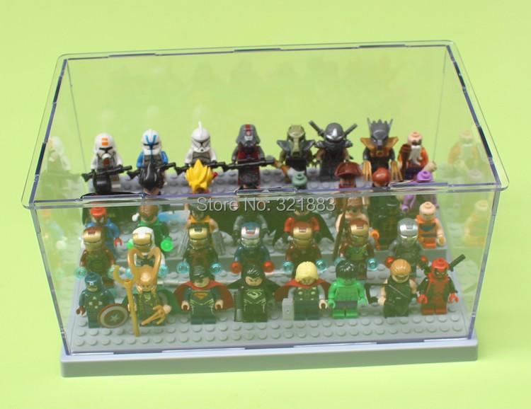 Acrylic Plesiglas Display Box size 26*15*13cm Robin/Loki/Blue Clone Solider Figures Storage box compatible