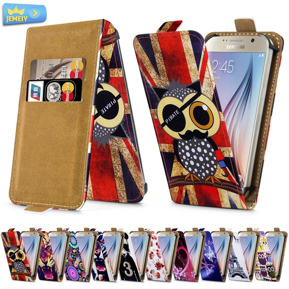 For Samsung A7 A7000 S3 I9300 S6 G920F Universal High Quality Printed Flip PU Leather Cell Phones Case Cover Middle Size(China (Mainland))