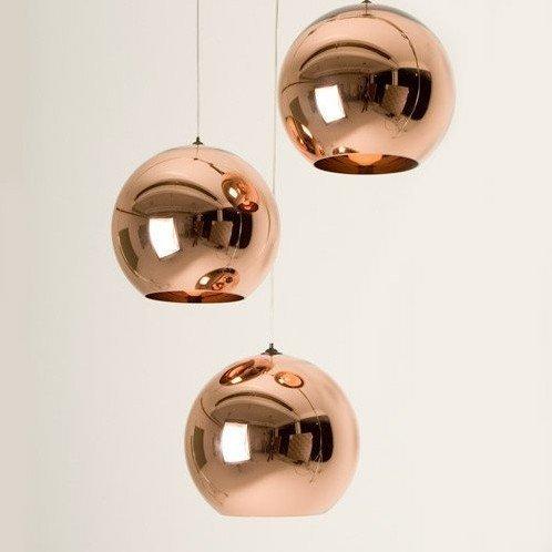 diameter 40cm tom dixon copper shade ceiling light pendant. Black Bedroom Furniture Sets. Home Design Ideas