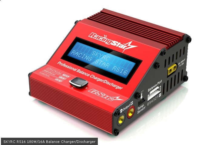Фотография SKYRC Super Compact Portable RacingStar RS16 180W/16A Balance Charger/Discharger SK-100078