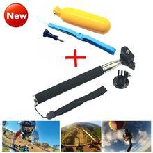Accessories go pro monopod with tripod mount + Handler Floating hand grip bobber for gopro hero 4 2 3+ sj4000 sport cam LD12