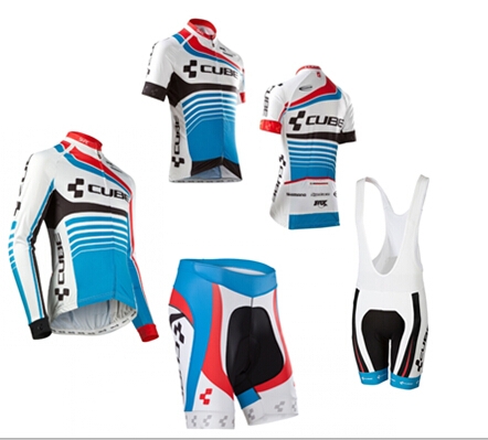 hot sale cube cycling clothes set short cycling jersey shorts with pad or long jersey for spring bike bicycle jersey(China (Mainland))