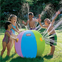 60CM Inflatable Spray Water Ball Children Summer Outdoor Swimming Beach Pool Play The Lawn Water Balls Playing Smash It Toys(China (Mainland))
