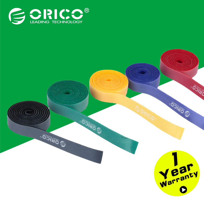 ORICO CBT 5S Velcro Plastic Nylon Cable Mark Colorful Ties Label Brand Belting Ribbon Wire Binging
