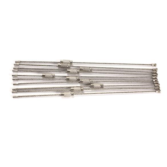 10 шт. из нержавеющей стали 20 см провода брелок кабель брелок для наружной #NVP
