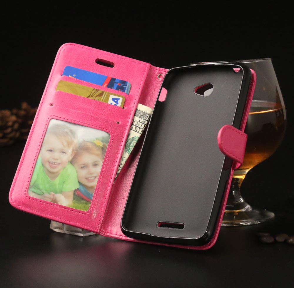 Luxury PU Leather Flip Phone Case Sony Xperia E4 E 4 Protective Magnetic Stand Wallet Card Slot Shell Cover Sony E4 Bag