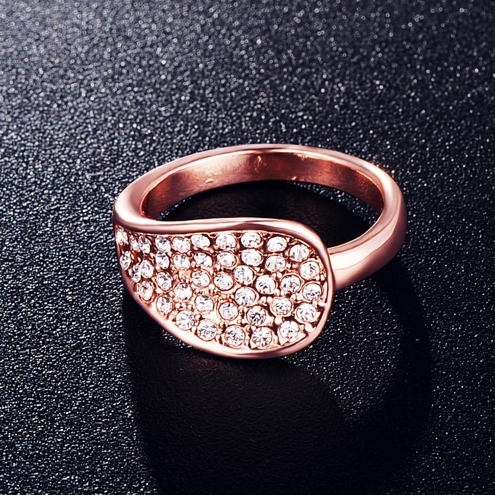 unique fashion ring 18k gold plate genuine swa
