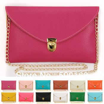 Леди женщин Fashinable простой конверт багет клатч сеть кошелек браслет сумка плеча сумочку