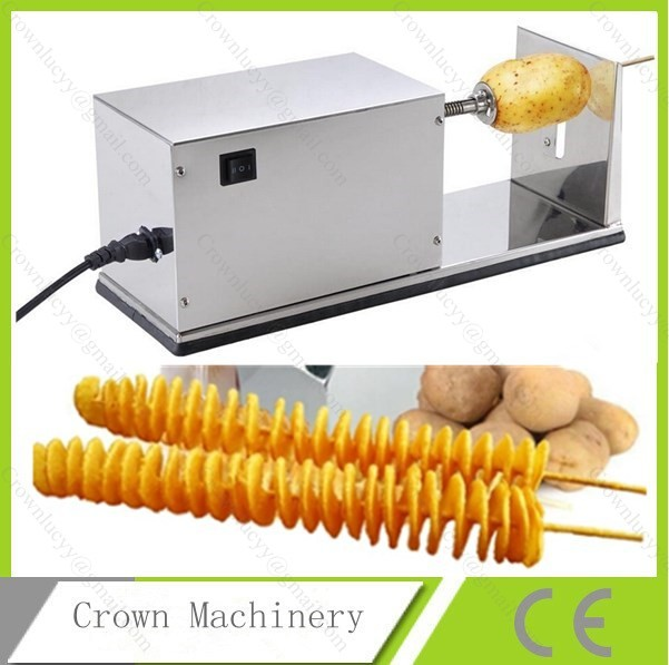Electric Potato Slicer ~ Electric potato cutter machine tornado