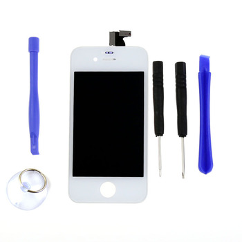 Free Shipping For iPhone 4 4G LCD Digtizer Touch Display Screen Assembly Glass Parts Replacement Free Tools