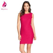 Buy Vintage Short Cocktail Bodycon Party Dress Elegant Women Robe De Soiree Work Office Hot Pink Lace Dresses 2017 Vestido De Festa for $11.65 in AliExpress store