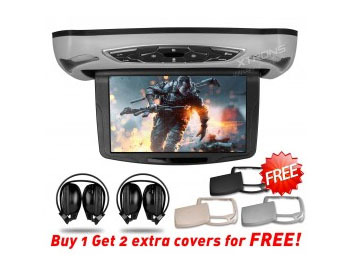 """10.1"""" Car Roof Mounted DVD Player Drop Down Monitor With 32 Bits Games Overhead HD TFT Screen HDMI Ceiling Video USB Car Display(China (Mainland))"""