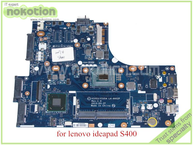 VIUS3 VIUS4 LA-8952P for lenovo ideapad S400 Laptop motherboard HD4000 DDR3 SR109 1007U CPU<br><br>Aliexpress