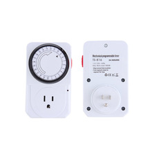 US Plug 24 Hour Programmable Mechanical Electrical Plug Program Timer Power Switch Energy Saver Top sale(China (Mainland))