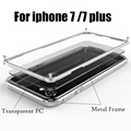 For iphone 7 Metal Bumper Case Coque for iphone 7 Plus Case Luxury Aluminum Frame PC