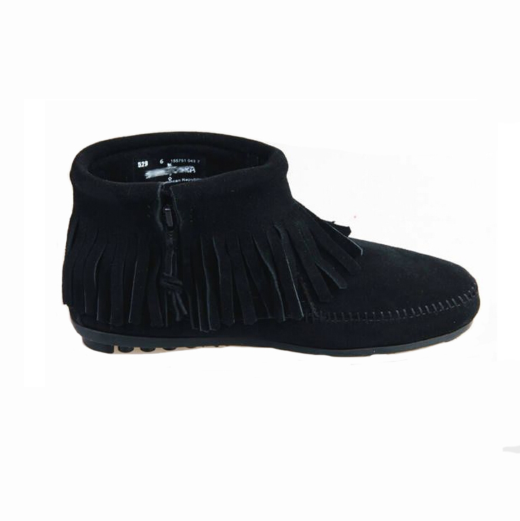 Brand Woman Fringe Boots Genuine Leather Tassel Fashion Design Women Flat Shoes Spring Ladies Slip on Creeper Ankle-Boots(China (Mainland))