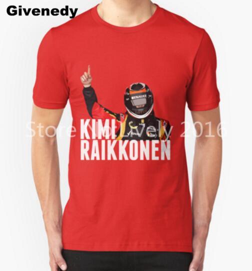 New Hot Kimi Raikkonen Lotus Victory T Shirts Men F1 Mens T Shirt Print Casual Euro Size Short Sleeve Man Tees Free Shipping(China (Mainland))