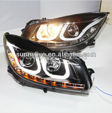 For Buick Regal Opel insignia LED Head Light Angel Eyes Projector Lens 2009-2012year U Type(China (Mainland))