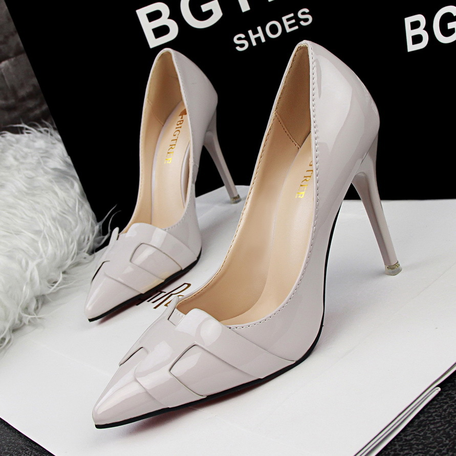 bigtree letter pointe toe brand high heels pumps