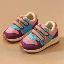 חדש ספורט ילדי נעלי ילדים בני סניקרס אביב סתיו נטו רשת לנשימה מזדמן בנות נעלי ריצה נעל לילדים(China)