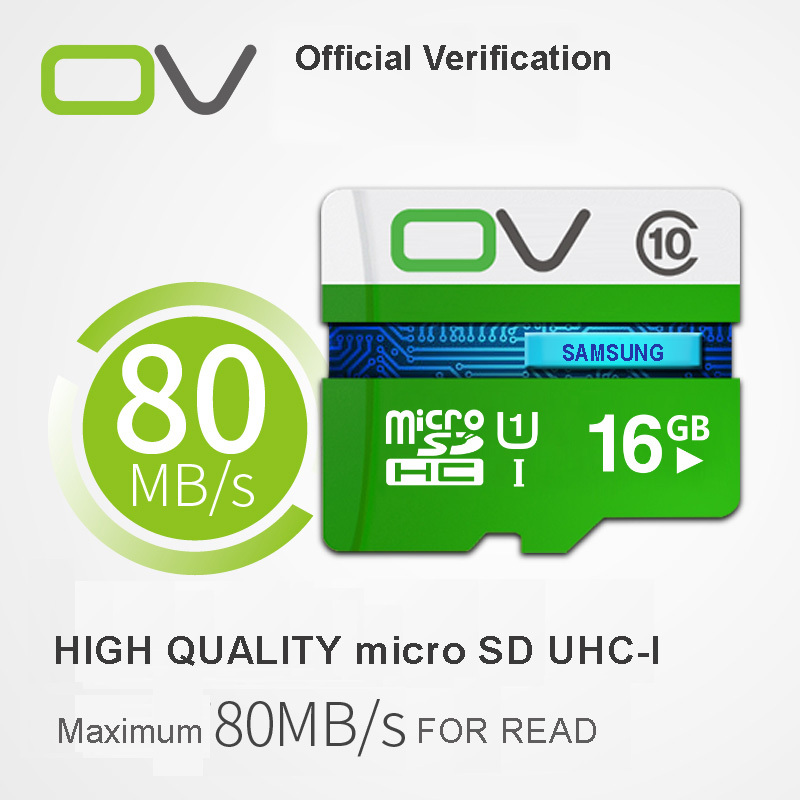 100% Original OV Micro SD card memory card microsd mini 8gb 16gb 32gb 64gb speed up to 80m/s class 10 H2test Real Capacity(China (Mainland))