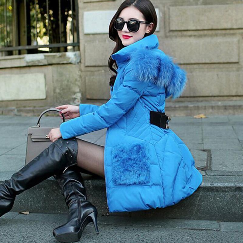 2015 Fashion Slim Parka Coat Trim Hooded White Duck Down Jackets Fashion Winter Jacket Women Winter Coat DX361Одежда и ак�е��уары<br><br><br>Aliexpress