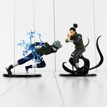 2 Styles 15cm Naruto Nara Shikamaru Shippuden Hatake Kakashi PVC figure toy doll(China (Mainland))