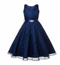 2016 de Verão do bebê do  feminino banquete de Casamento vestido formal e elegante O vestido da menina de flor vestido de renda da princesa Do Bebê da menina roupas