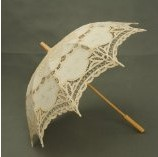 Adulto marfim do Vintage Battenberg Parasol do laço Sun Umbrella Handmade para o casamento festa da alta qualidade 5 cor u escolher H106(China (Mainland))