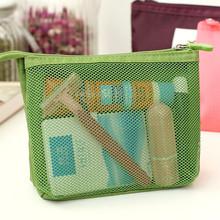 2 pieces lot Travel accessories waterproof hanging mesh women cosmetic bag makeup brush storage bags