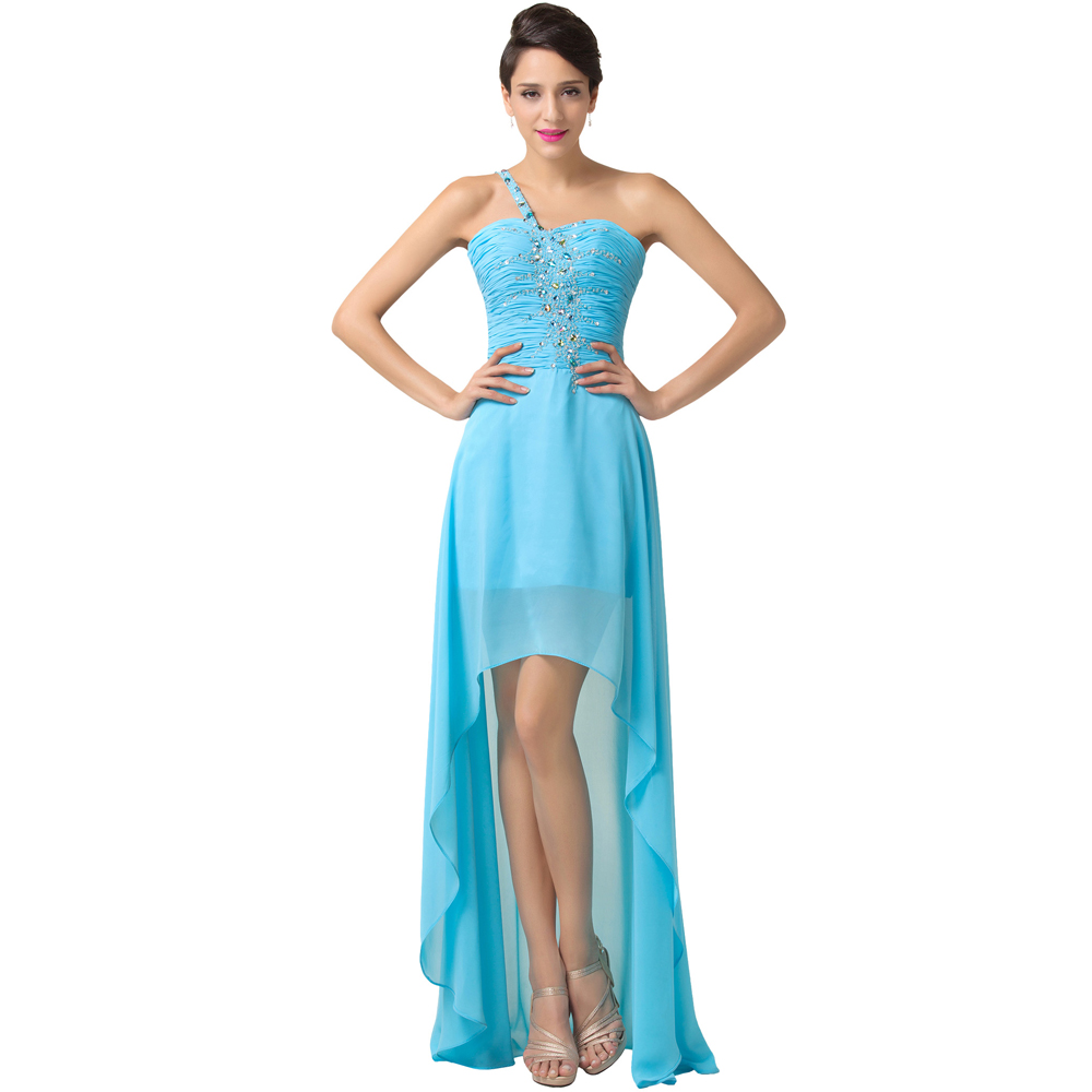 Grace karin evening dress long 2016 high low front short for Formal long dresses for weddings