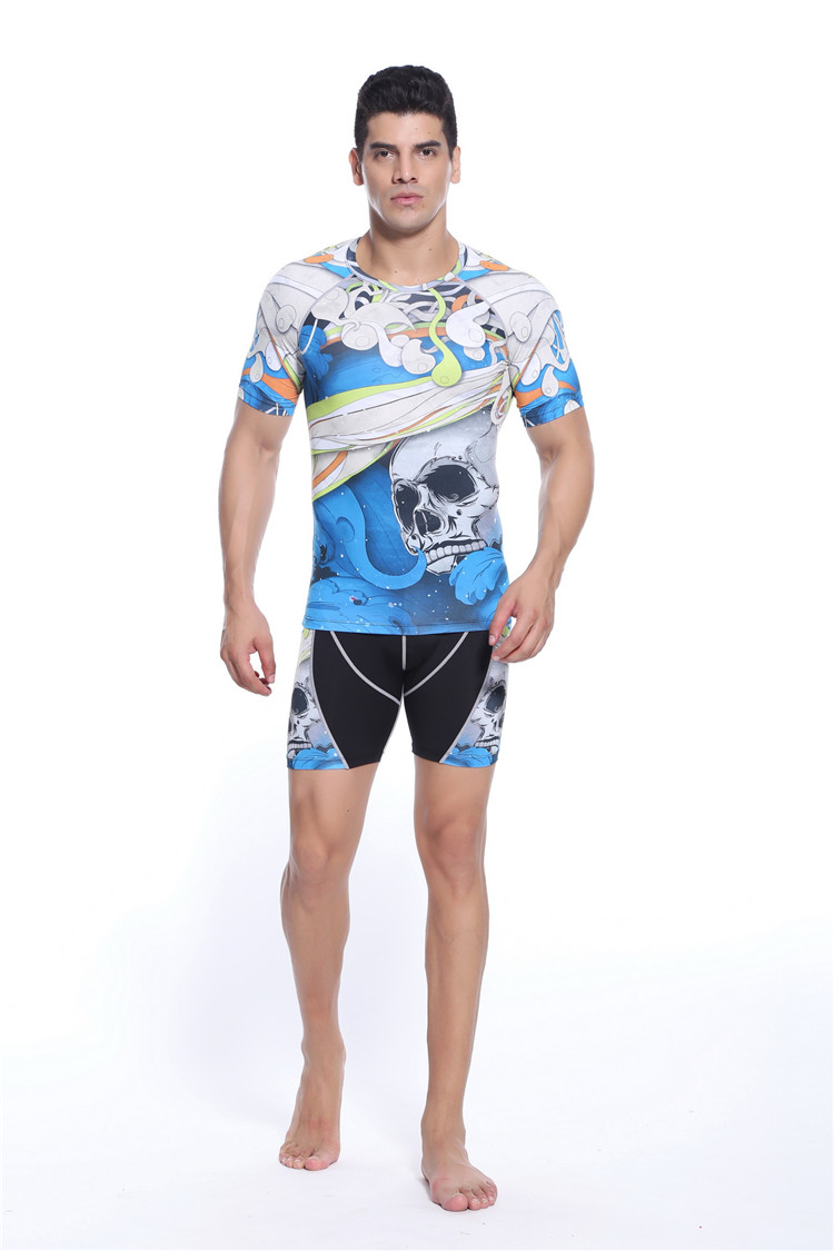 Men compression muay thai boxing mma shorts fight custom wrestling singlets bandana jersey free shipping(China (Mainland))