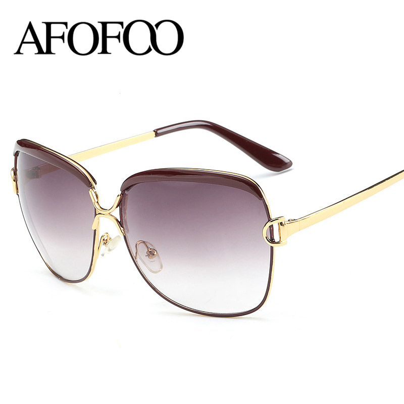Vintage Big Frame Glasses : AFOFOO New Fashion Big Frame Sunglasses Brand Designer ...