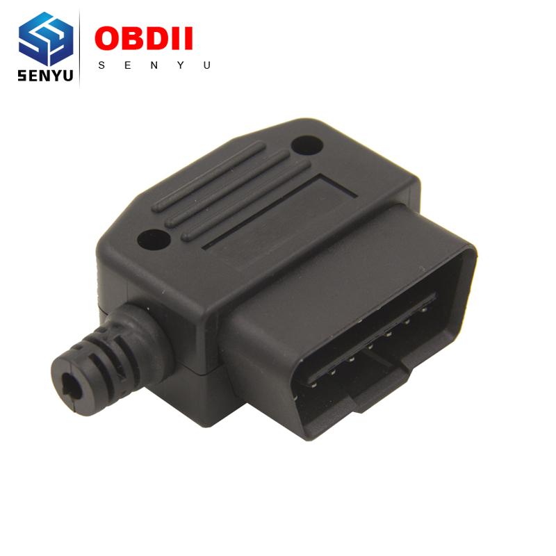 Universal OBD2 16 Pin Connector 16Pin OBD1 To OBD2 OBD 2 Connector OBDII OBD II16 pin adaptor Male Plug J1962 Connector(China (Mainland))