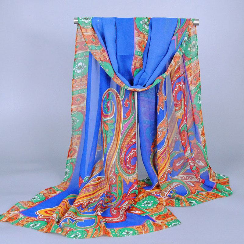 2016 From India New fashion Style Cashew Women Scarf Long Shawl Spring Silk Pashmina Chiffon Infinity Bufanda Hijab(China (Mainland))