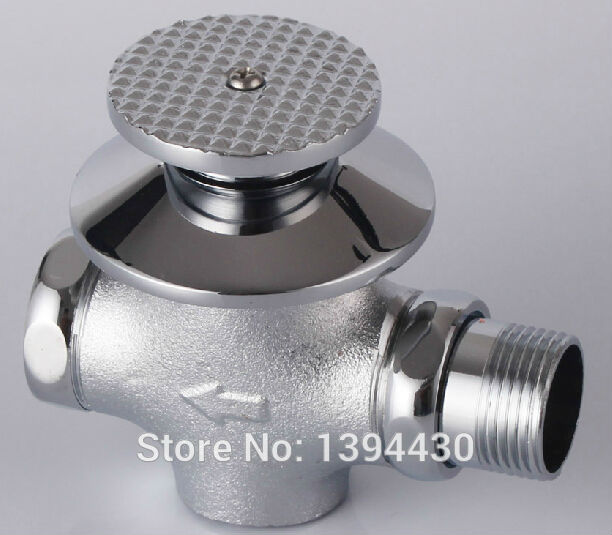 2015 Promotion Rushed Tempered Glass Hardware Copper Foot Flusher Concealed Flush Valve Stool Pit Delay(China (Mainland))