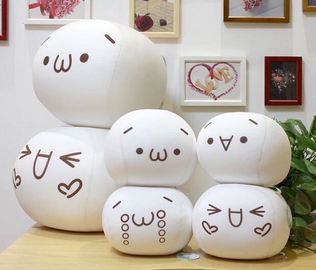 Hew hot sale plush toy face foam particles Yan Jun large blocks of text chicken dumpling pillow doll toy pillow free shipping(China (Mainland))