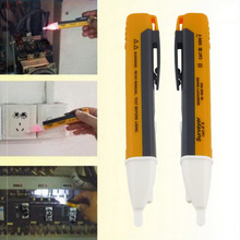 1pc Electric Socket Wall AC Power Outlet Voltage Detector Sensor Tester Pen LED light indicator 90-1000V free shipping Hot Sale(China (Mainland))