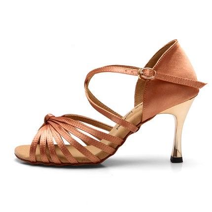 Women shoes gold summer soft outsole high heeled adult square dance ballroom shoes women ballroom dancing Latin dance shoes 85(China (Mainland))