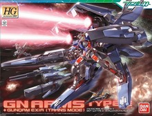 Bandai Gundam 00 HG 1/144 #13 GN Arms Type-E + Gundam Exia (Transam Mode) Model Kit Free Shipping #53122(China (Mainland))