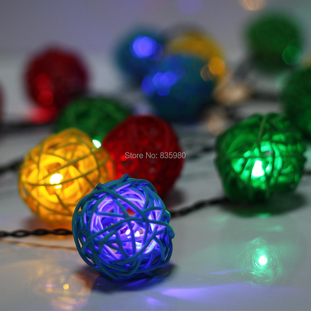2PCS Christmas Lights Wedding Decoration Storage BatteryAA LED String Lighting 4M LED Ball indoor outdoor Free Shipping(China (Mainland))