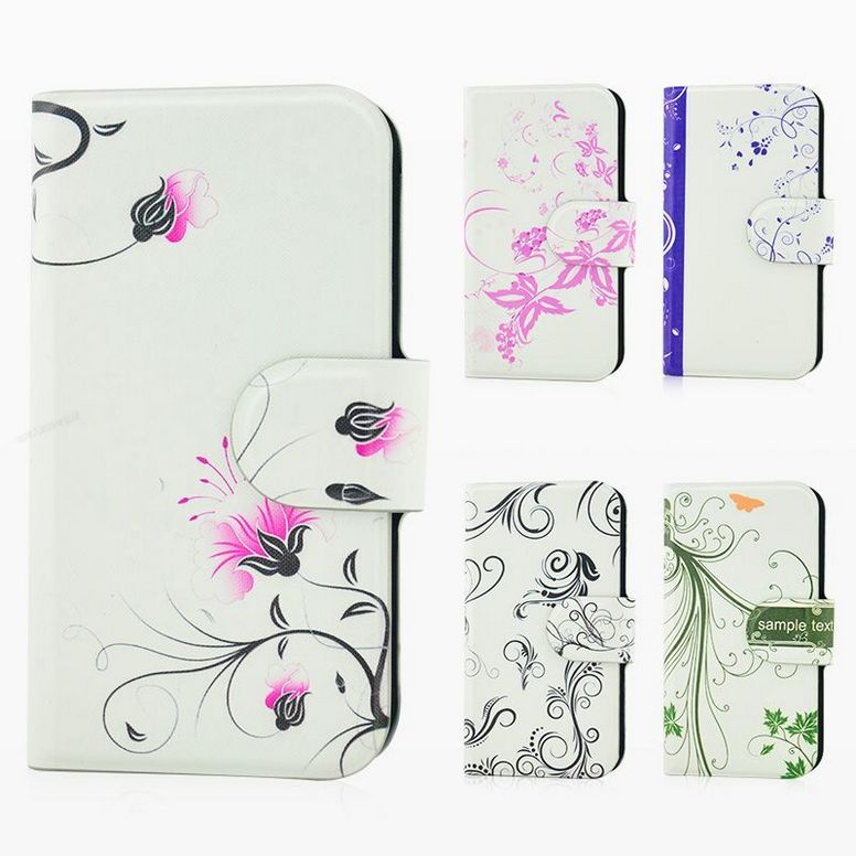 Wholesale Newest colorful leaf bird graffiti flower PU leather flip case cover for blackberry Z10(China (Mainland))