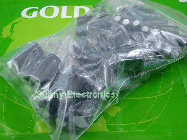 12 value electrolytic capacitors Assortment Kit 60pcs 1000uf 2200uf 3300uf 4700uf  Free Shipping