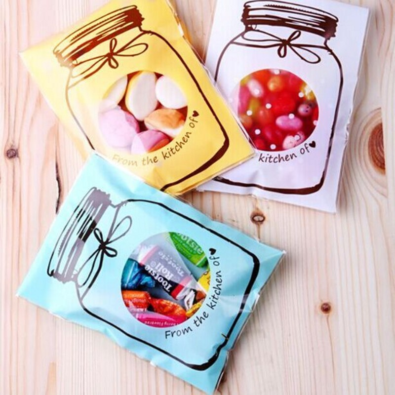 100pcs OPP New Cute Bottle style Gift Wedding Christmas Gift Packing Bag Candy Biscuits Snack Baking Jewelry Packaging Bags B096(China (Mainland))