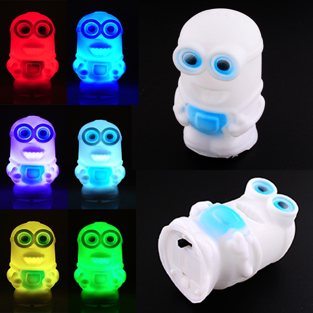 Changing Color Minions Model Led Night Light Lamp Powered