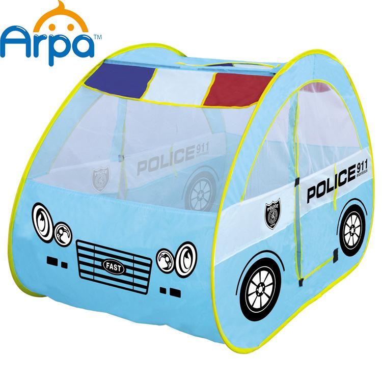 Children's Large Games Playhouse Patrol Car Shape Tent House Baby Toys Cartoon Wholesale(China (Mainland))